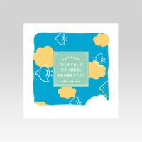 PL70711 メッセージ一筆箋  癒し 三方袋(ミニ)