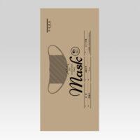 PL70732 マスク袋 平袋  クラフト